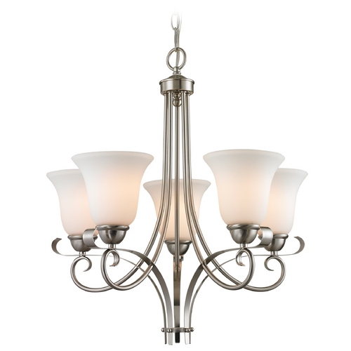 Cornerstone Lighting Cornerstone Lighting Brighton Brushed Nickel Chandelier 1005CH/20