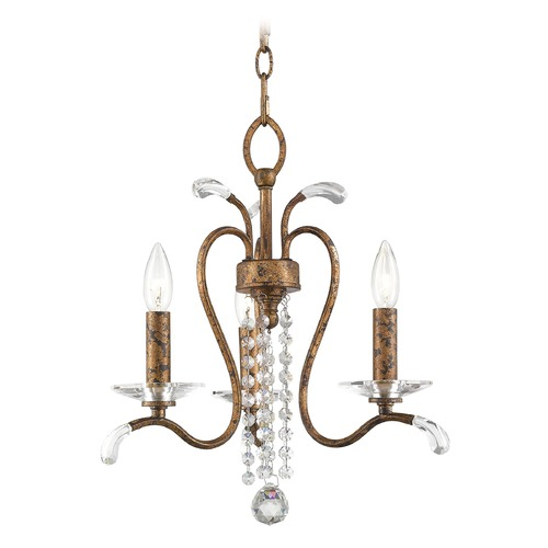 Livex Lighting Livex Lighting Serafina Hand Applied Venetian Golden Bronze Mini-Chandelier 51003-71