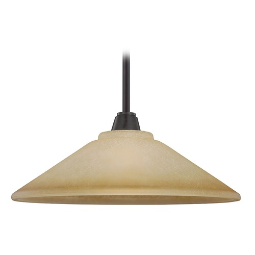 Sea Gull Lighting Sea Gull Lighting Parkfield Flemish Bronze Pendant Light with Coolie Shade 6513001-845