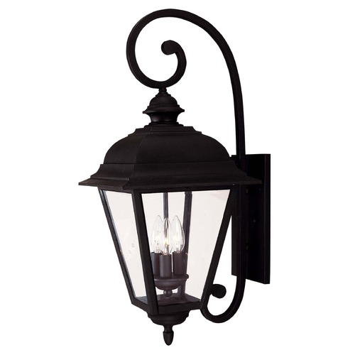 Savoy House Savoy House Textured Black Outdoor Wall Light 5-1602-BK