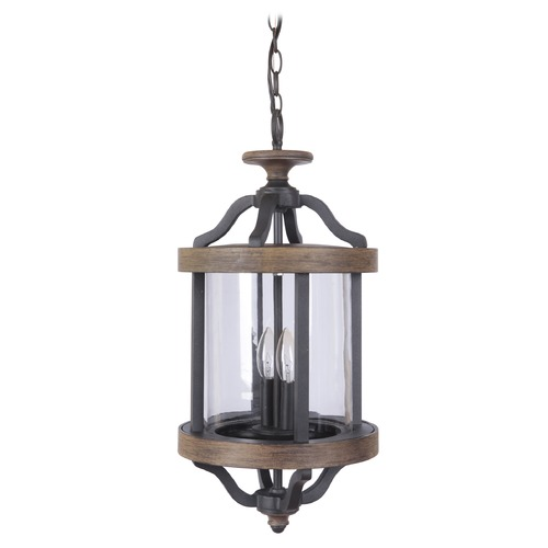 Craftmade Lighting Craftmade Lighting Ashwood Textured Black/whiskey Barrel Outdoor Hanging Light Z7921-14