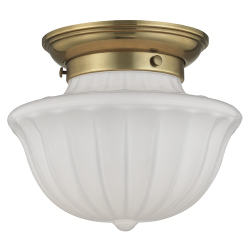 Hudson Valley Lighting Dutchess 1 Light Flushmount Light - Aged Brass 5009F-AGB