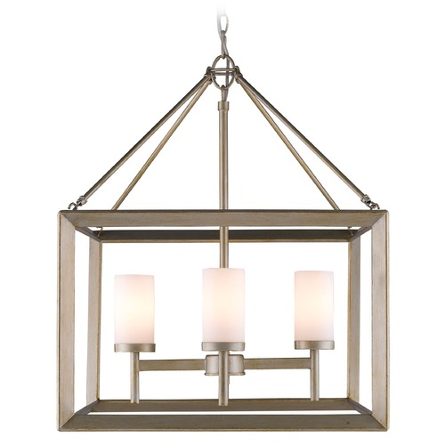 Golden Lighting Golden Lighting Smyth White Gold Chandelier 2073-4 WG