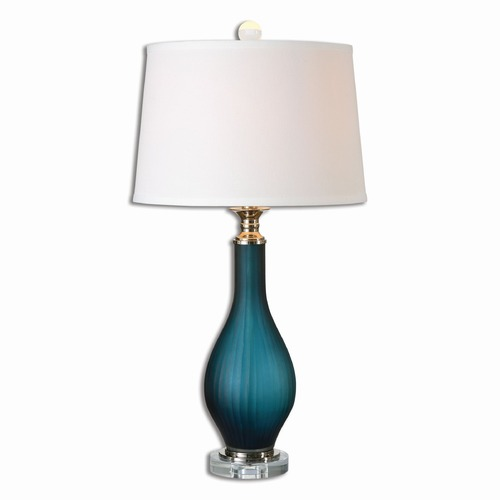 Uttermost Lighting Uttermost Shavano Blue Glass Table Lamp 26902