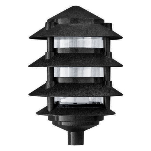 Dabmar Lighting Black Cast Aluminum Four Tier Pagoda Light D5100-B
