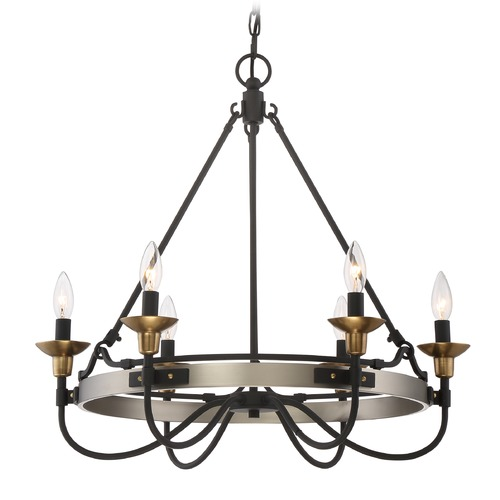 Quoizel Lighting Quoizel Castle Hill 6-Light Chandelier in Antique Nickel CTH5006AN