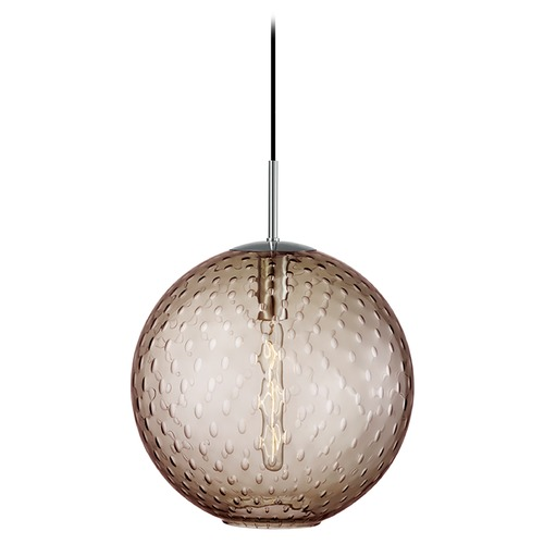 Hudson Valley Lighting Hudson Valley Lighting Rousseau Polished Chrome Pendant Light with Globe Shade 2015-PC-BZ
