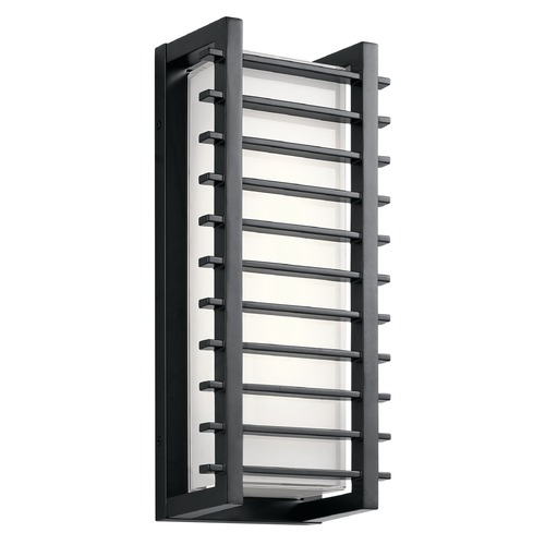Kichler Lighting Kichler Lighting Rockbridge Black LED Outdoor Wall Light 49785BKLED