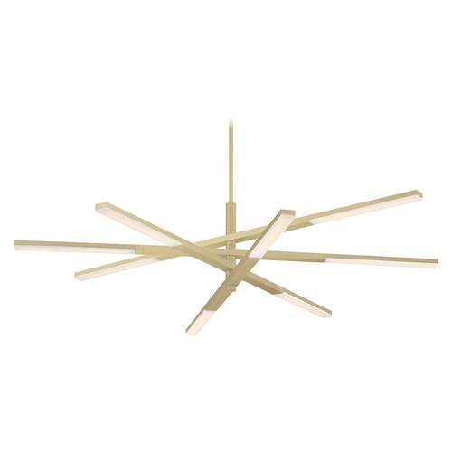 Modern Forms by WAC Lighting Modern Forms Stacked Brushed Brass LED Chandelier 3000K 2200LM PD-50748-BR
