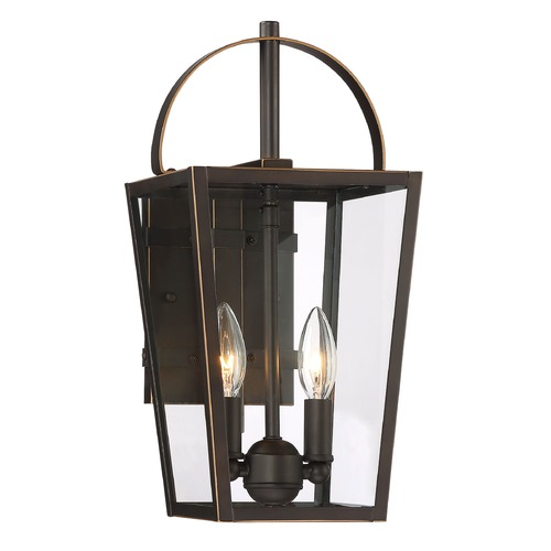 Minka Lavery Minka Lavery Rangeline Oil Rubbed Bronze with Gold Highlights Outdoor Wall Light 72722-143C