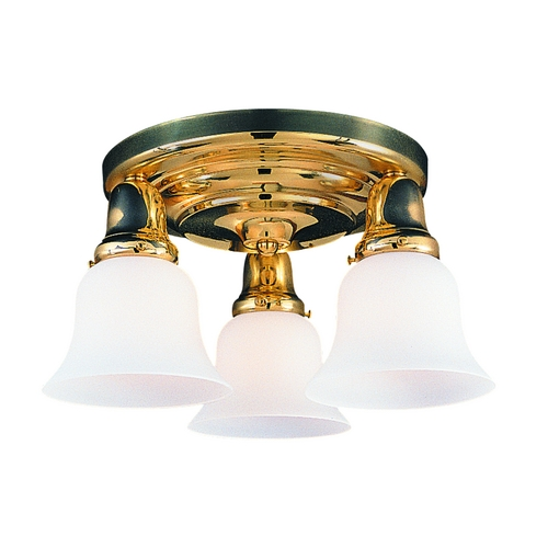 Hudson Valley Lighting Semi-Flushmount Light with White Glass in Old Bronze Finish 587-OB-415