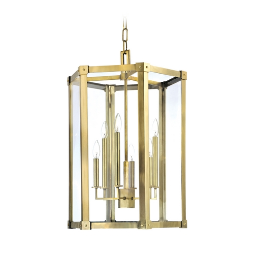 Hudson Valley Lighting Modern Pendant Light with Clear Glass in Distressed Bronze Finish 6220-DB