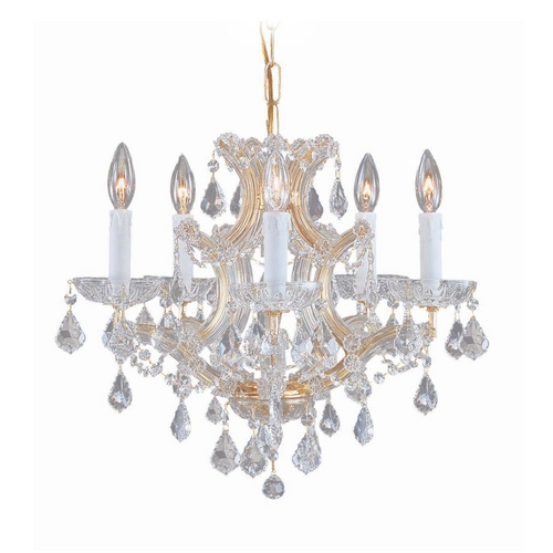 Crystorama Lighting Crystal Mini-Chandelier in Gold Finish 4405-GD-CL-MWP