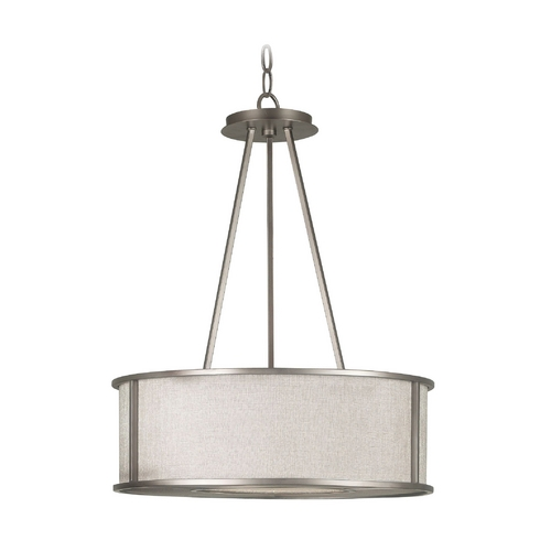 Kenroy Home Lighting Modern Drum Pendant Lights in Bronze Gilt Finish 91580BZG