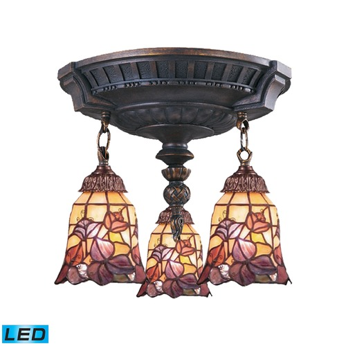 Elk Lighting Elk Lighting Mix-N-Match Aged Walnut LED Semi-Flushmount Light 997-AW-17-LED