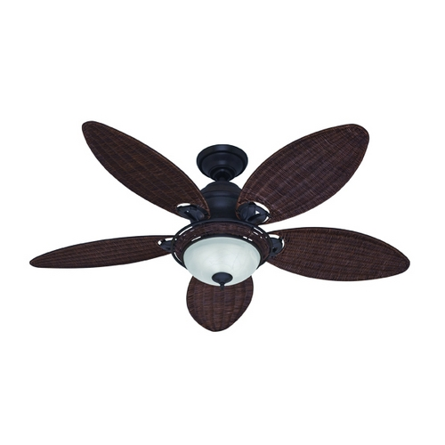 Hunter Fan Company Hunter Fan Company Caribbean Breeze Weathered Bronze Ceiling Fan with Light 54095