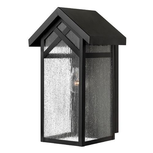 Hinkley Lighting Outdoor Wall Light with Clear Glass in Black Finish 1790BK