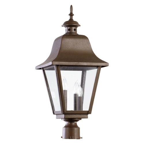 Quorum Lighting Quorum Lighting Bishop Oiled Bronze Post Light 7032-3-86