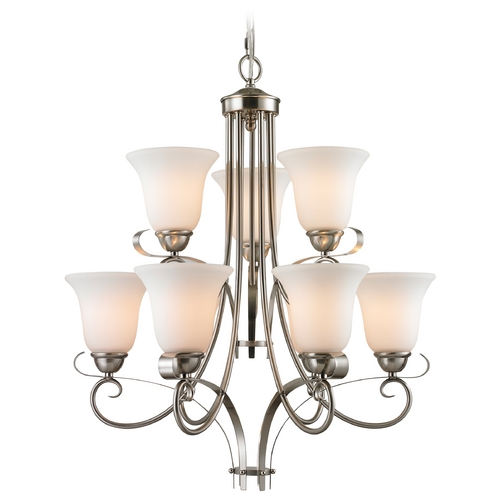 Cornerstone Lighting Cornerstone Lighting Brighton Brushed Nickel Chandelier 1009CH/20