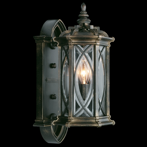Fine Art Lamps Fine Art Lamps Warwickshire Dark Wrought Iron Patina Outdoor Wall Light 612681ST