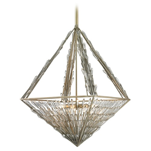 Elk Lighting Elk Lighting Viva Natura Aged Silver Pendant Light 31777/8