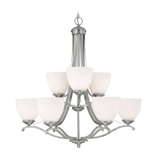 Capital Lighting Capital Lighting Chapman Matte Nickel Chandelier 3949MN-202