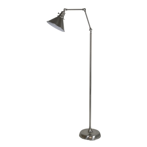 House of Troy Lighting House Of Troy Otis Satin Nickel Floor Lamp with Conical Shade OT600-SN-MS