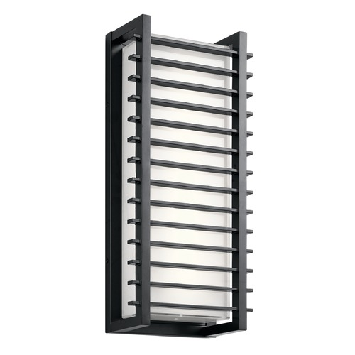 Kichler Lighting Kichler Lighting Rockbridge Black LED Outdoor Wall Light 49786BKLED