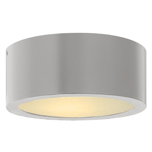 Hinkley Hinkley Luna Titanium LED Close to Ceiling Light with Etched Glass 3000K 600LM 1665TT
