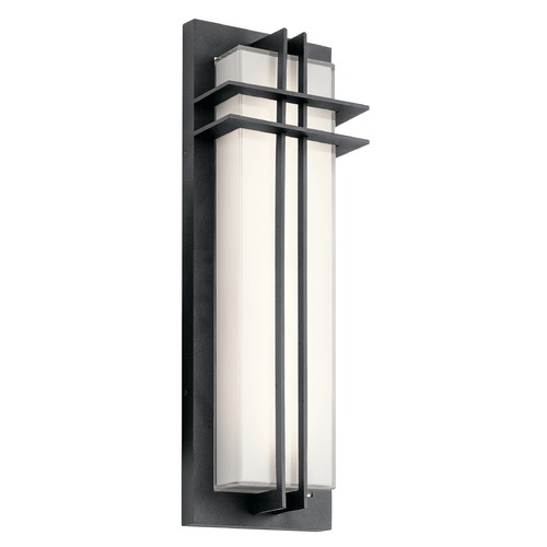 Kichler Lighting Craftsman Black LED Outdoor Wall Light Black 3000K 600LM 49298BKTLED