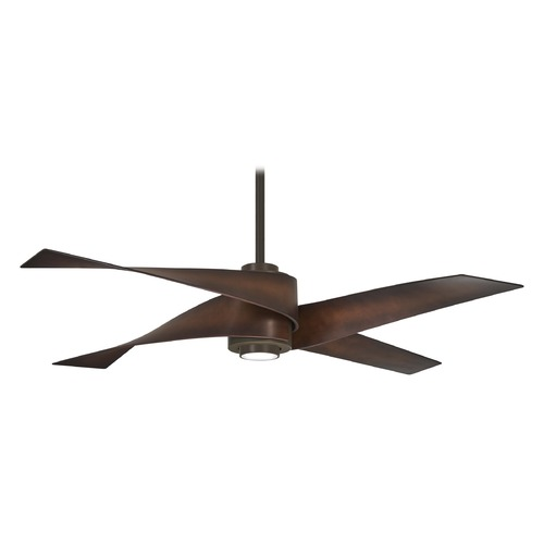 Minka Aire 64-Inch Minka Aire Artemis IV Oil Rubbed Bronze LED Ceiling Fan with Light F903L-ORB