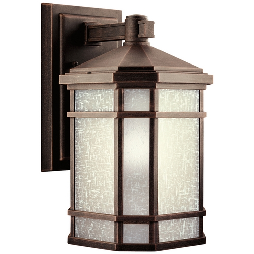 Kichler Lighting Kichler Outdoor Wall Light with White Glass in Prairie Rock Finish 9719PR