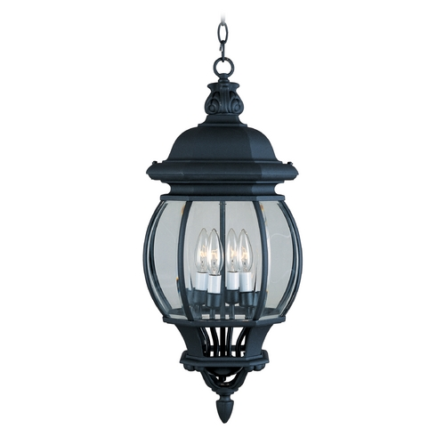 Maxim Lighting Outdoor Hanging Light with Clear Glass in Black Finish 1039BK