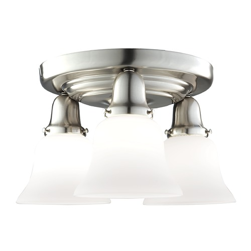 Hudson Valley Lighting Semi-Flushmount Light with White Glass in Old Bronze Finish 587-OB-415M