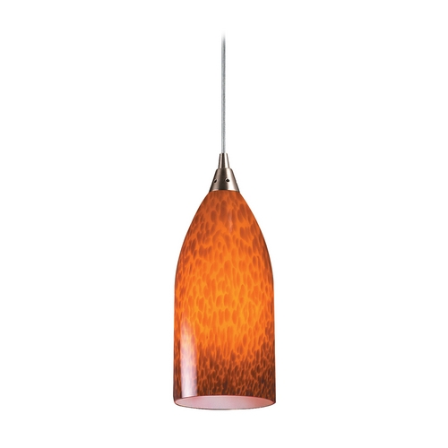 Elk Lighting Modern Mini-Pendant Light with Art Glass 502-1ES