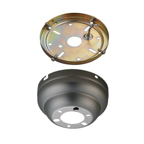 Monte Carlo Fans Ceiling Adaptor in Brushed Pewter Finish MC90BP