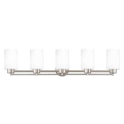 Design Classics Lighting Satin Nickel Bathroom Light 706-09 GL1028C