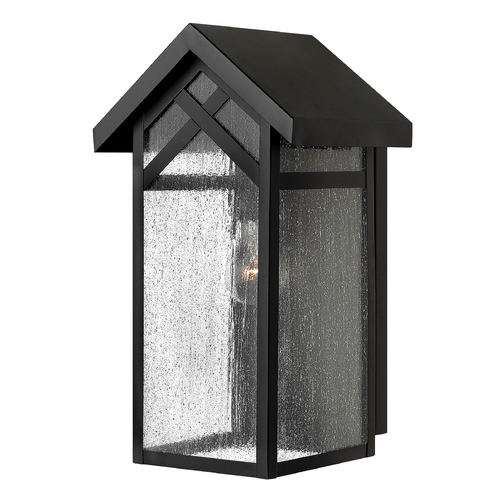 Hinkley Lighting Outdoor Wall Light with Clear Glass in Black Finish 1790BK-GU24