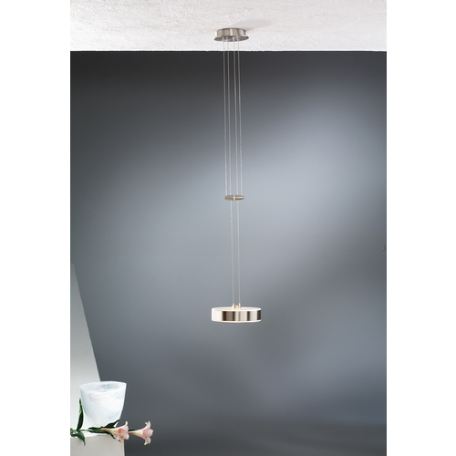 Holtkoetter Lighting Holtkoetter Modern Low Voltage Mini-Pendant Light with White Glass 5701 SN GB10