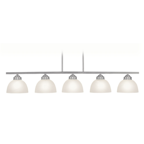 Livex Lighting Livex Lighting Somerset Brushed Nickel Island Light with Bowl / Dome Shade 4227-91