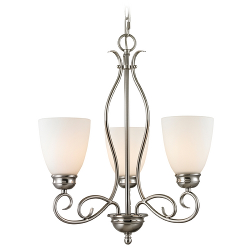 Cornerstone Lighting Cornerstone Lighting Chatham Brushed Nickel Chandelier 1103CH/20