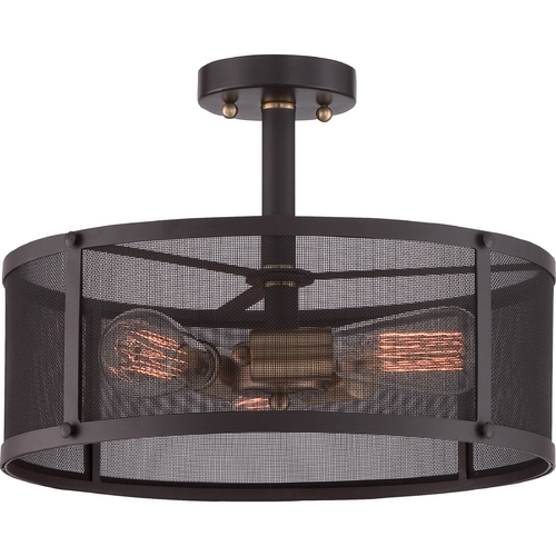Quoizel Lighting Quoizel Union Station Western Bronze Semi-Flushmount Light UST1716WT