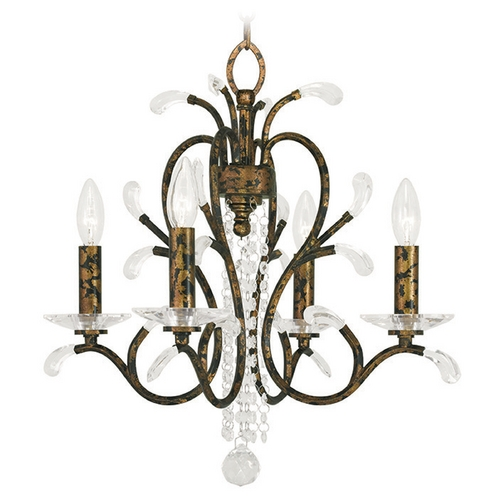 Livex Lighting Livex Lighting Serafina Hand Applied Venetian Golden Bronze Mini-Chandelier 51004-71