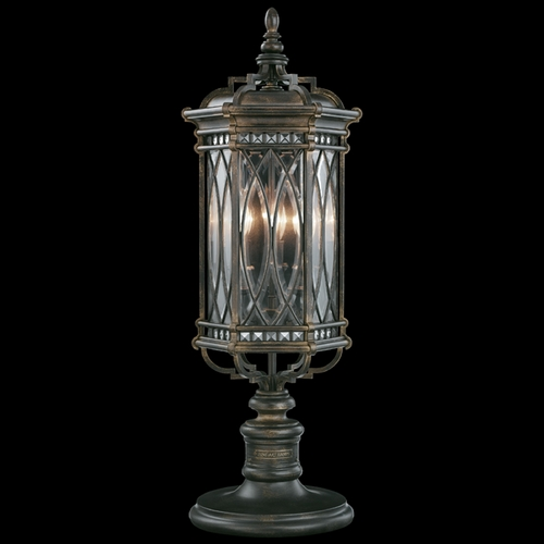 Fine Art Lamps Fine Art Lamps Warwickshire Dark Wrought Iron Patina Post Lighting 611283ST