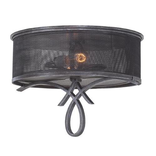 Kalco Lighting Kalco Lighting Delancy Vintage Iron Flushmount Light 7527VI