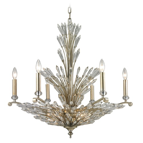 Elk Lighting Elk Lighting Viva Natura Aged Silver Chandelier 31779/6+3