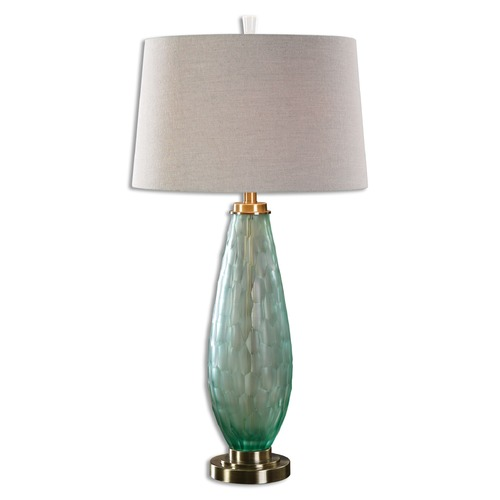 Uttermost Lighting Uttermost Lenado Sea Green Glass Table Lamp 27003