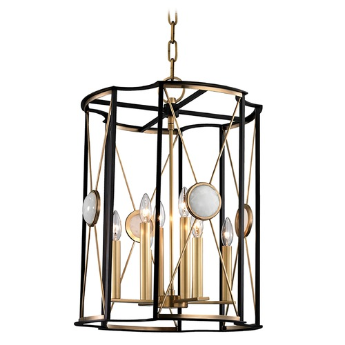 Hudson Valley Lighting Hudson Valley Lighting Cresson Aged Brass Pendant Light 2218-AGB