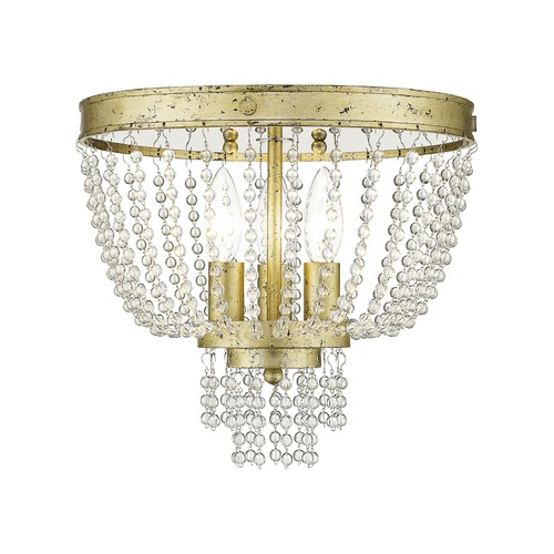 Livex Lighting Livex Lighting Valentina Hand Applied Winter Gold Semi-Flushmount Light 51864-28