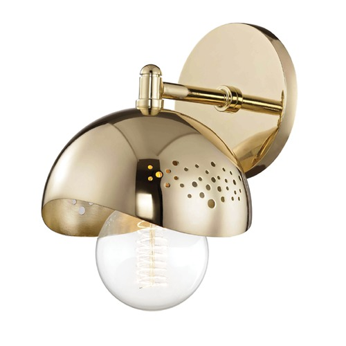 Hudson Valley Lighting Mid-Century Modern Sconce Brass Mitzi Heidi by Hudson Valley H131101-PB